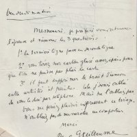 LETTRE DE PAUL GUILLAUME