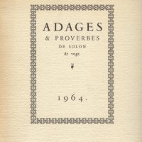ADAGES ET PROVERBES DE SOLON DE VOGUE