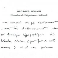 CARTE DE GEORGES BONNIN